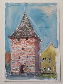 "Original ""Stege city gate ""Denmark"""