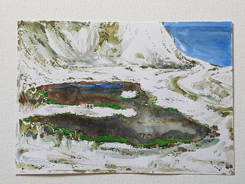 "Original ""Chalk mine hiking Coast trail"""
