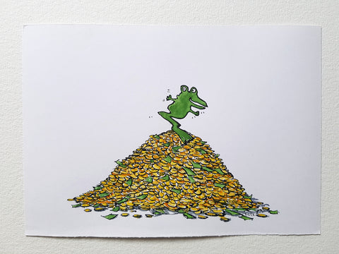 "Original ""One legged money frog"""