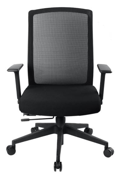 1A Bolt Midback Mesh Chair with Armrest - Full Black