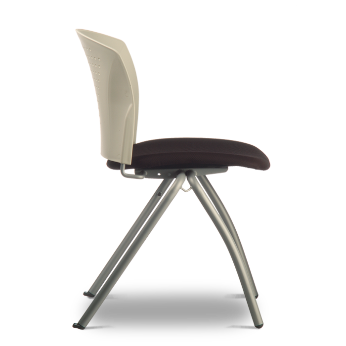Caddy Chair - Plastic Back and Fabric Seat