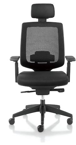 1A Danver Highback Chair with Armrest - Full Black