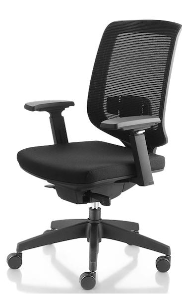 1A Danver Midback Chair with Armrest - Full Black