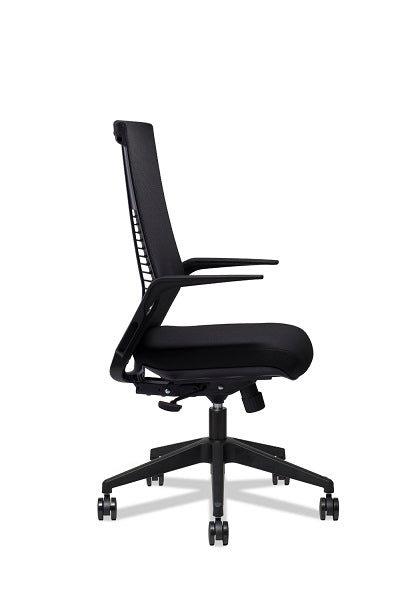 Theory Midback Mesh Chair with Armrest - Full Black