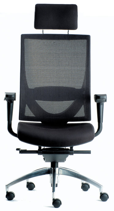Altitude Highback Chair - Mesh Backrest and Fabric Seat