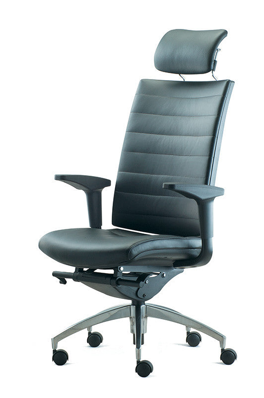 Altitude Highback Chair - Leather Backrest and Seat