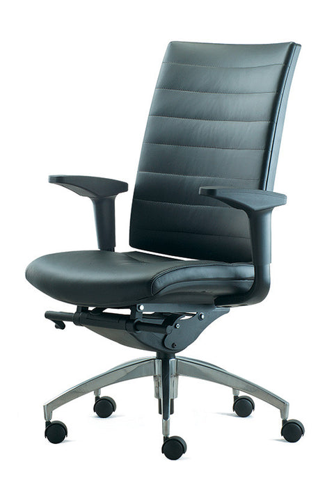 Altitude Midback Chair - Leather Backrest and Seat
