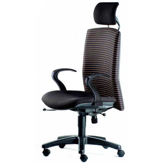 Memo Highback Chair with Armrest - Full Black