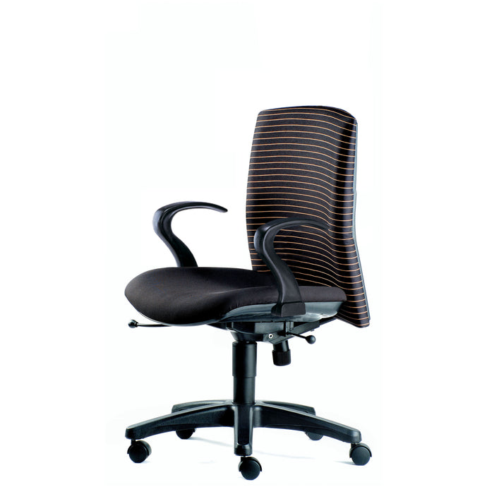 Memo Lowback Chair with Armrest - Full Black