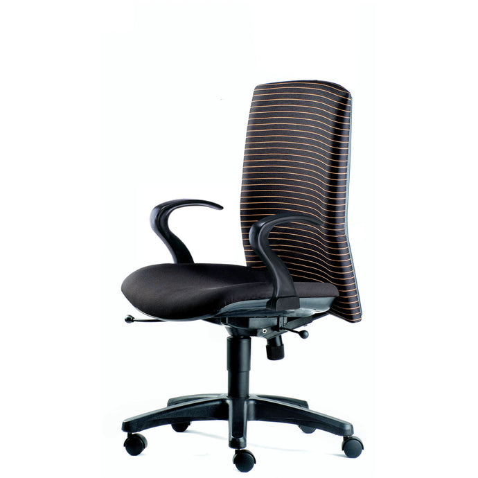 Memo Midback Chair with Armrest - Full Black