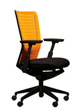 Headlines Midback Arm Chair - Plastic Back and Fabric Seat