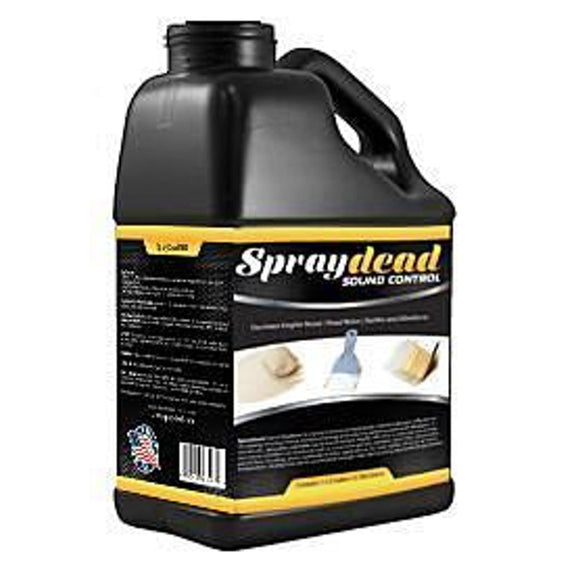 1 Gallon Liquid SprayDead Paintable Spray, Brush on Sound Deadener SD1 - Spray Dead