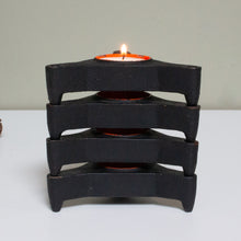 Set of Four Cast Iron Tealight Holders, 1960s