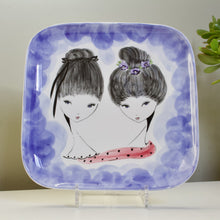 Ceramica Di Milano, Italy: Wall Plaque with Two Girls