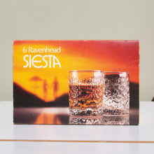 Ravenhead, England: Set of Six Boxed Whisky Tumblers from the Siesta Range