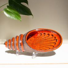 Norrman Motala, Sweden: Shell Wall Sconce with Red Glaze