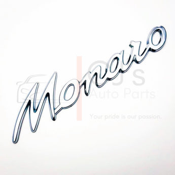 Monaro Chrome Badge