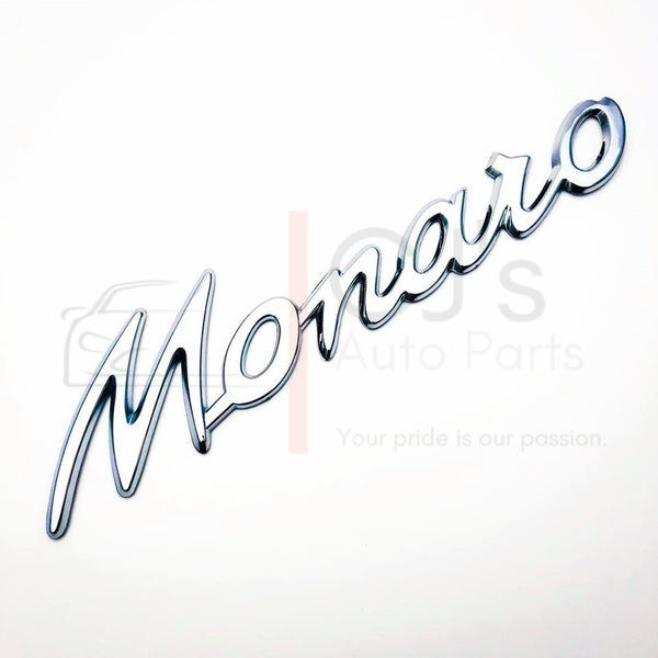 Monaro Badge - Chrome/Matte Black/Gloss Black
