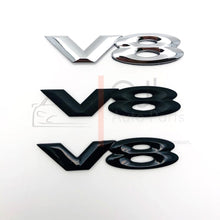 Load image into Gallery viewer, VY VZ Commodore V8 Badge - Chrome/Matte Black/Gloss Black