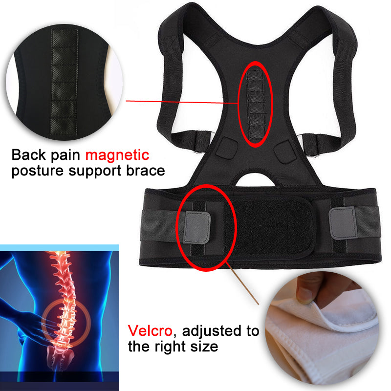 Harness - MAGNETIC POSTURE CORRECTIVE THERAPY BACK BRACE FOR MEN & WOMEN