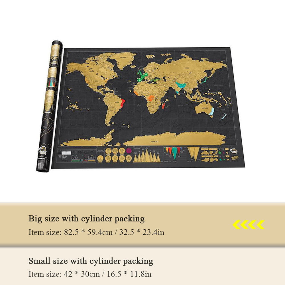 Premium & Large Scratch-Off Personalized Travel Map