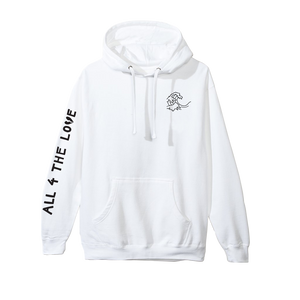 ALL 4 THE LOVE HOODIE (WHITE)