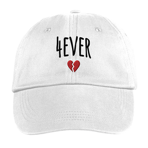 4EVER HEARTBROKE DAD HAT (WHITE)