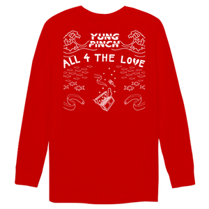 ALL 4 THE LOVE LONGSLEEVE (RED)