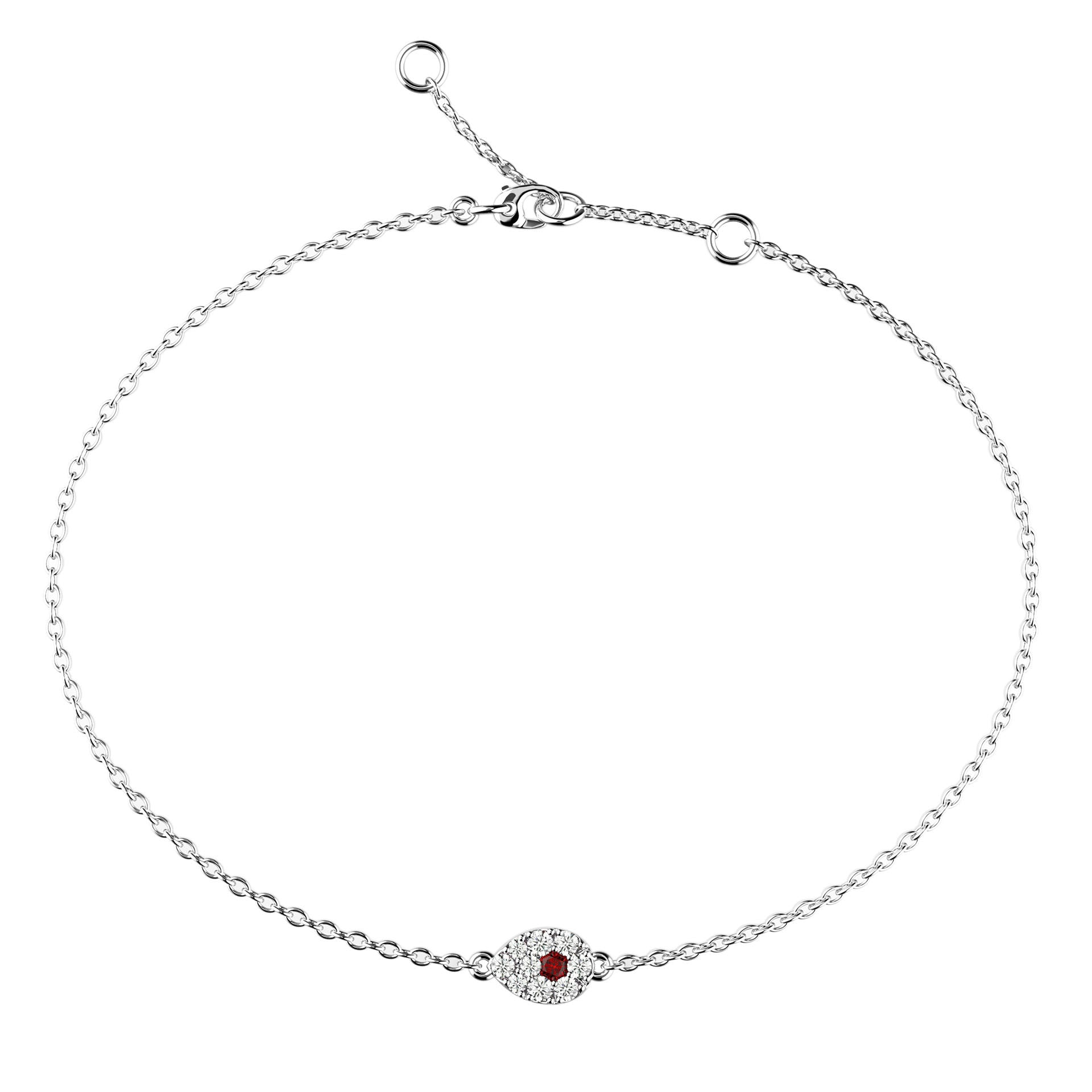 Mini Eye Ruby & Diamond Bracelet - KARP Jewellery