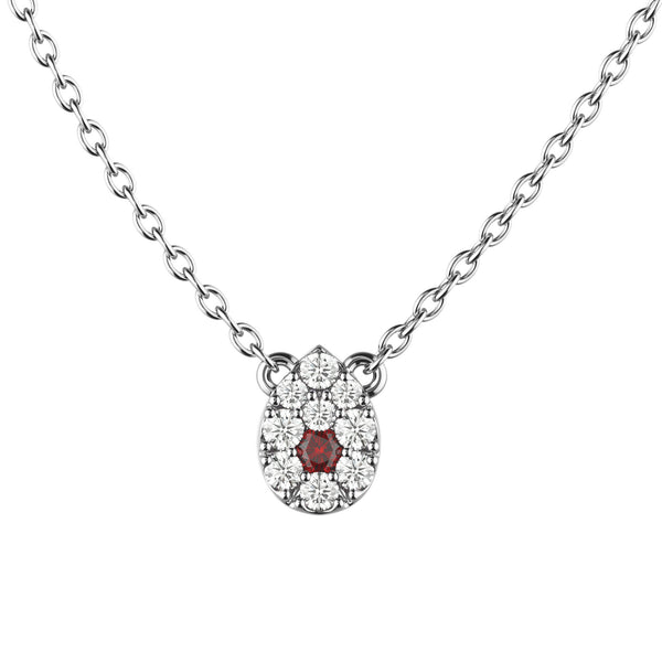 Pretty Pear Diamond Necklace - KARP Jewellery