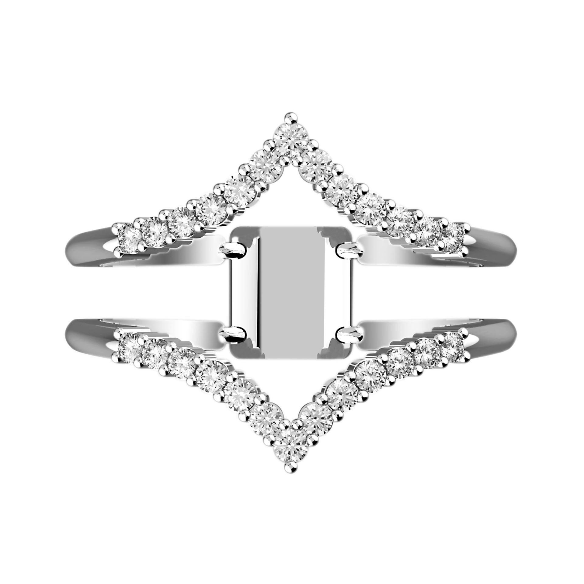 Split Shank Pointed Arrow Diamond Ring - KARP Jewellery