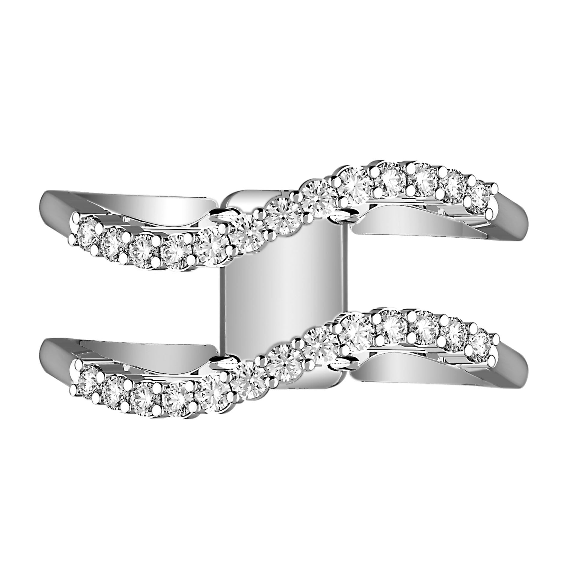 Wave Rider Illusion Diamond Ring - KARP Jewellery