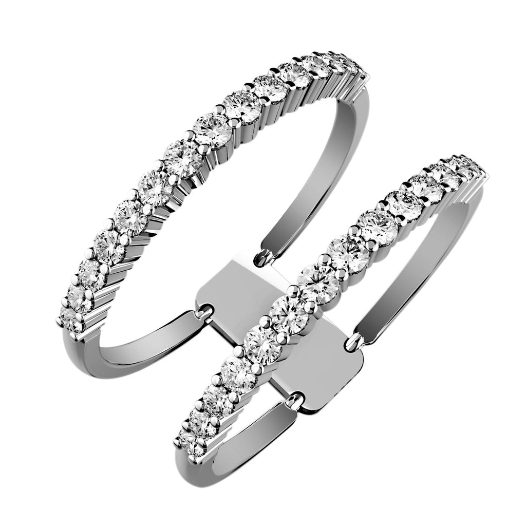Double Band Illusion Diamond Ring - KARP Jewellery