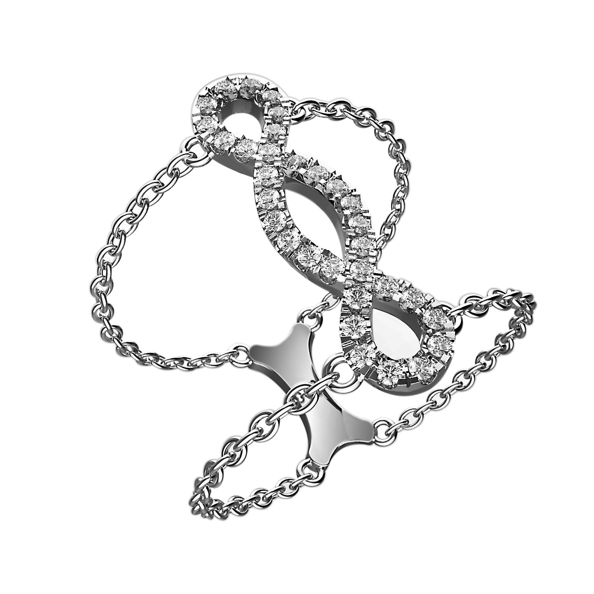 Infinity Links Diamond Illusion Ring - KARP Jewellery