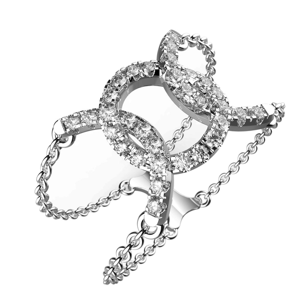 Linked Loops Diamond Ring - KARP Jewellery