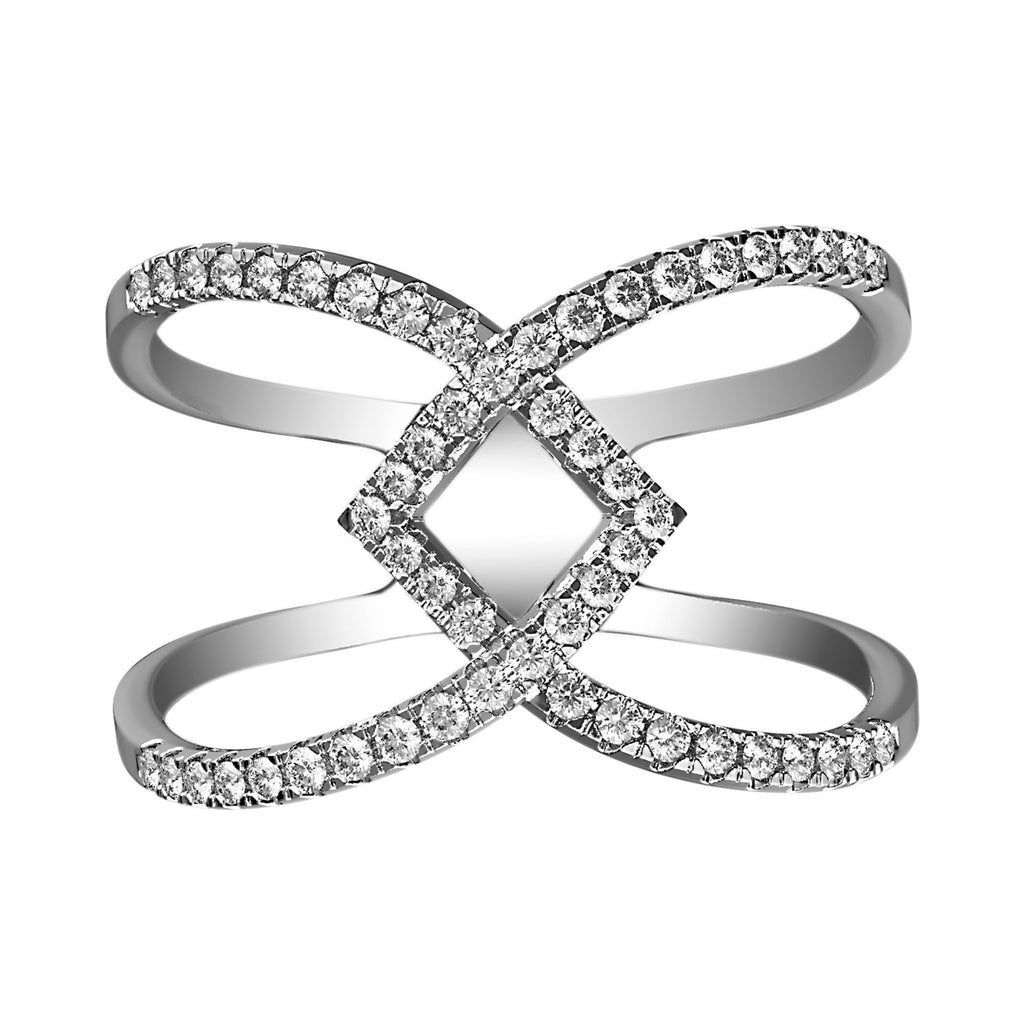 Stacked Shank Diamond Illusion Ring - KARP Jewellery