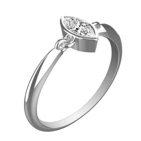 Marvelously Chic Marquise Diamond Ring - KARP Jewellery