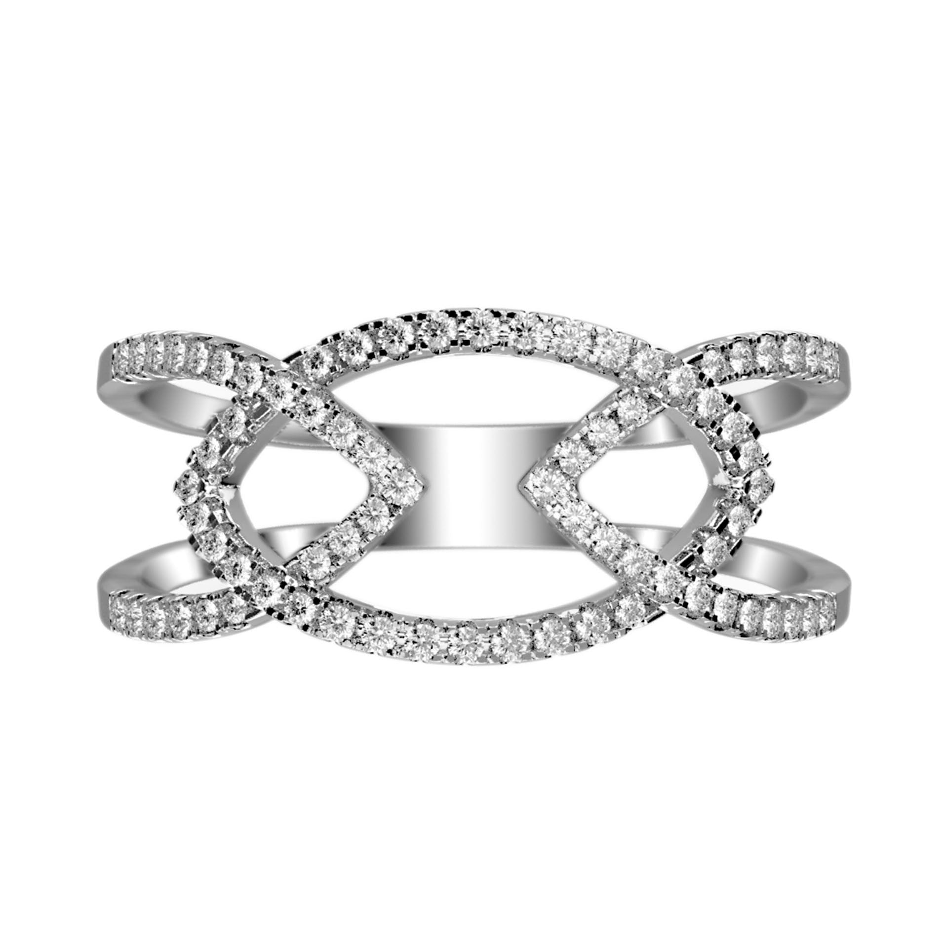 Linking Arrows Diamond Cutout Ring - KARP Jewellery