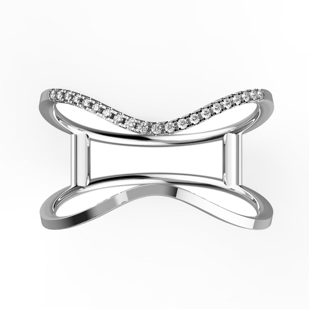 Wavy Shanks Stacked Illusion Ring - KARP Jewellery