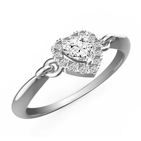 Amazing Heart Diamond Halo Ring