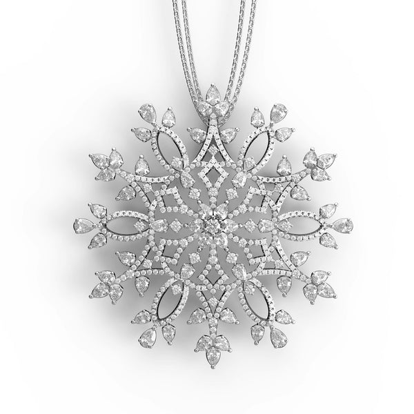Delightfully Detailed Snowflake Pendant - KARP Jewellery
