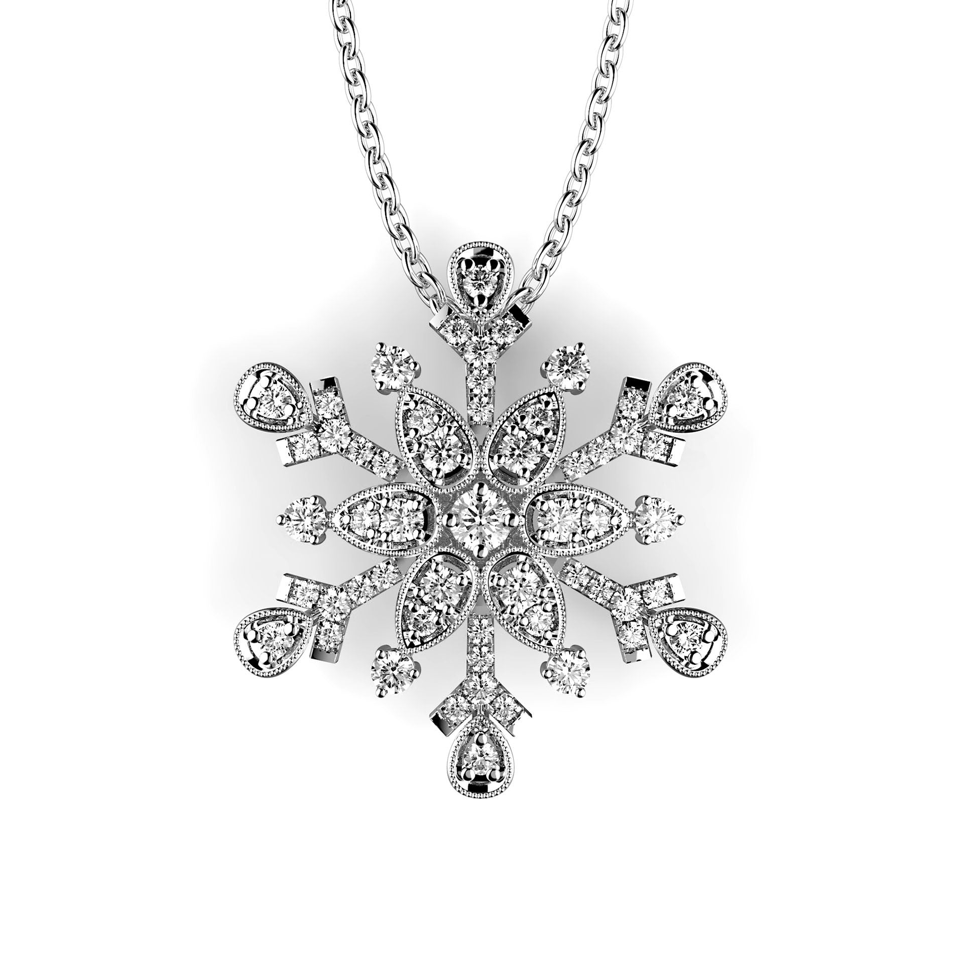 Splendidly Small Snow Star Pendant - KARP Jewellery
