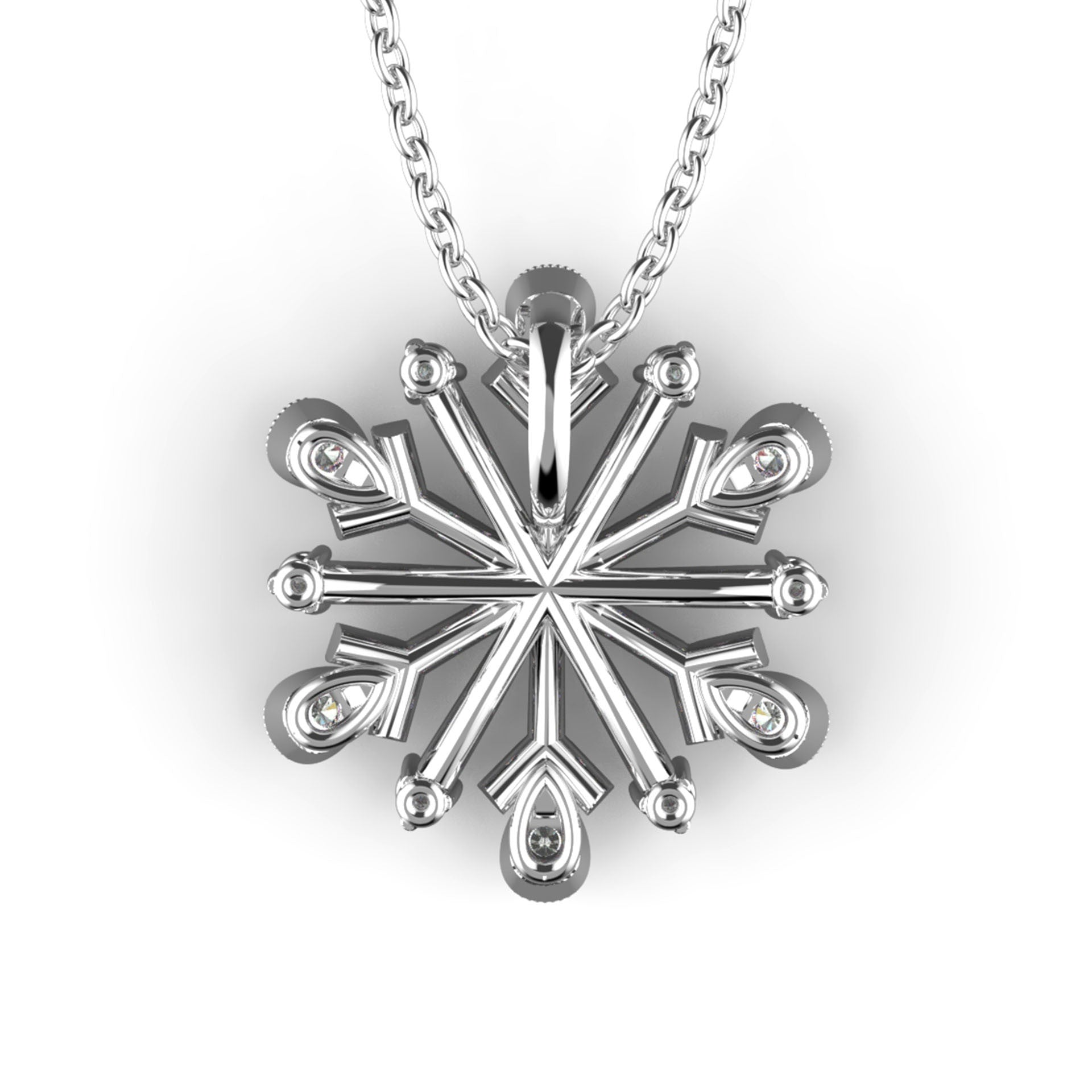 Clustered Snowflake Diamond Pendant - KARP Jewellery
