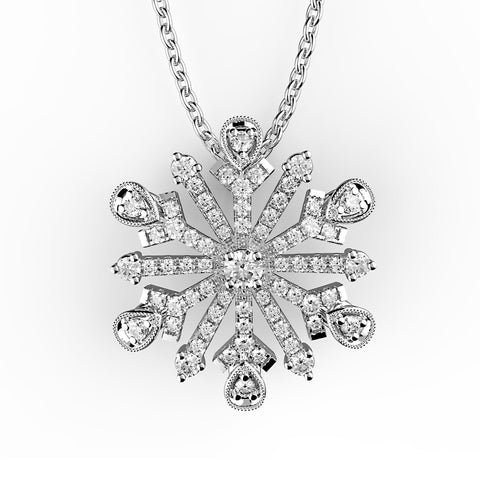 Clustered Snowflake Diamond Pendant