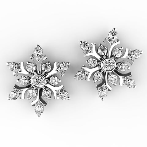 Bright Blooms Diamond Stud Earrings