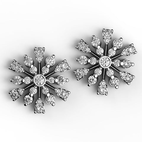 Blooming Bursts Diamond Stud Earrings