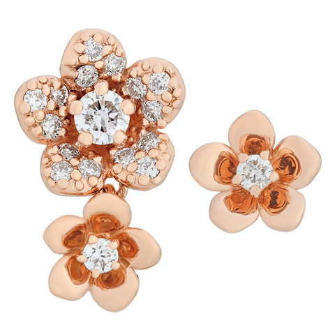 Asymmetric Flower Earrings - KARP Jewellery