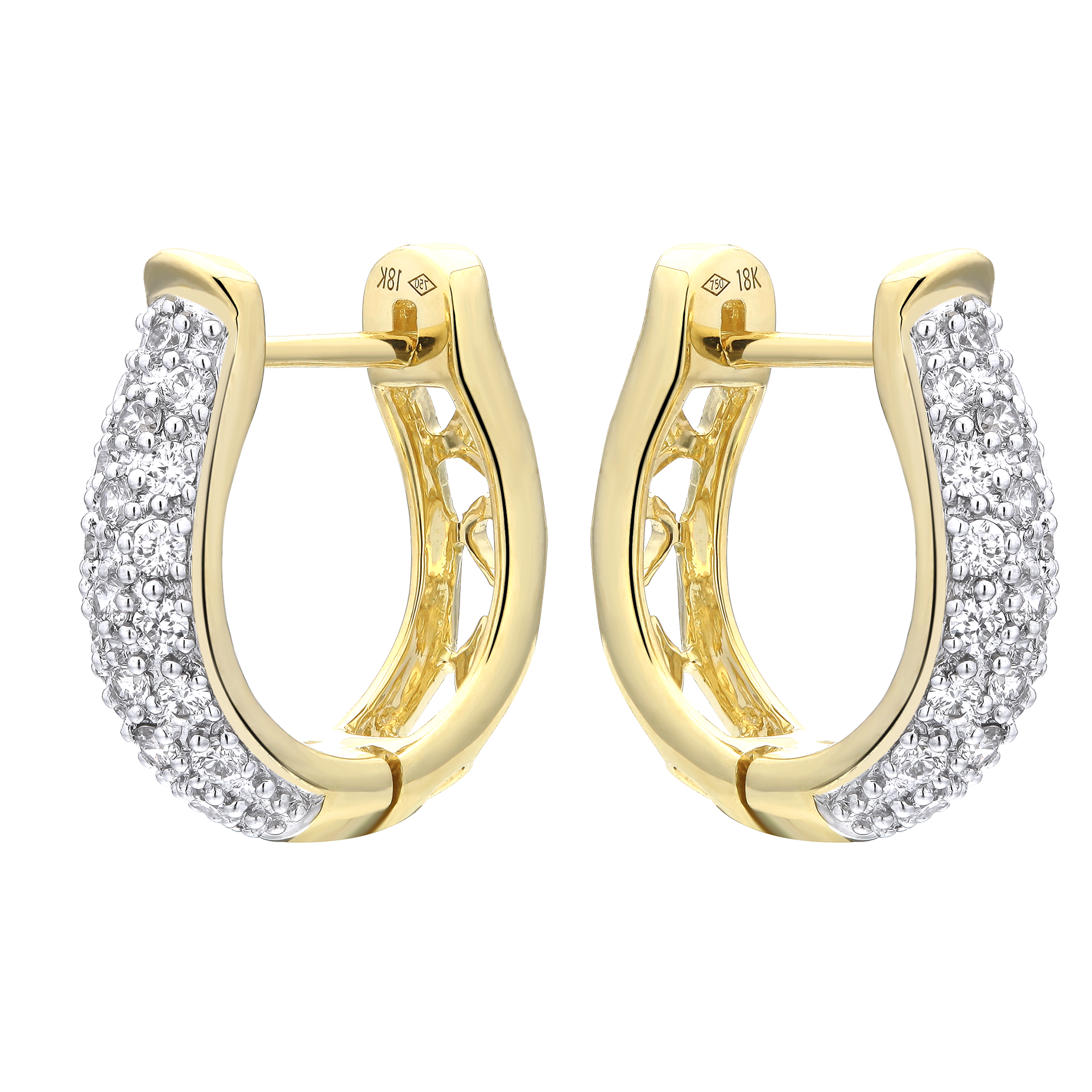 Encrusted Semi-Hoop Diamond Earrings - KARP Jewellery