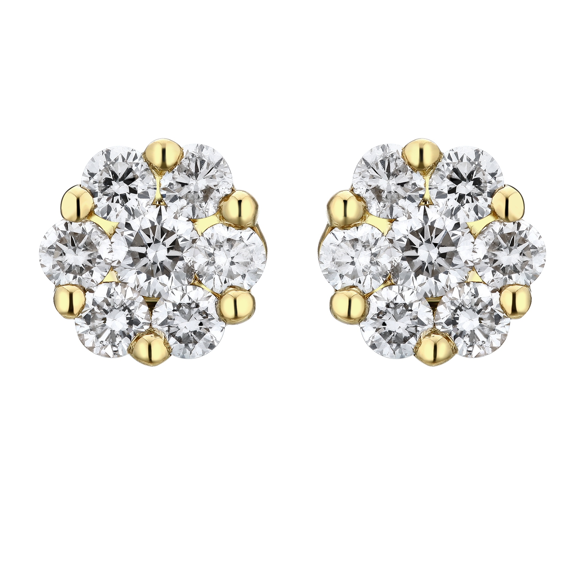 Modern Classic Illusion Diamond Stud Earrings - KARP Jewellery