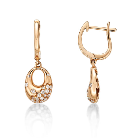 Boho Rose Gold Diamond Earrings - KARP Jewellery